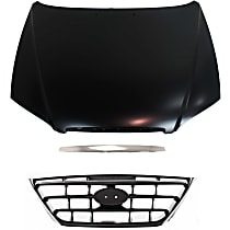 Hood Molding, Grille Assembly and Hood Kit - Plastic, Direct Fit
