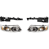 Headlight and Headlight Bracket Kit - Driver and Passenger Side, Primed, Direct Fit