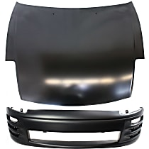 Replacement Bumper Cover and Hood Kit - Without fog light holes