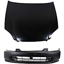 Bumper Cover and Hood Kit - Without fog light holes