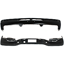 Step Bumper and Bumper Kit - Painted Black, Without mounting bracket(s), Pads not included; With step pad provision