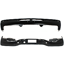 Replacement Step Bumper and Bumper Kit - Painted Black, Without mounting bracket(s), Pads not included; With step pad provision