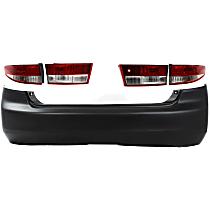 Tail Light and Bumper Cover Kit - Rear, DOT/SAE Compliant, Sedan
