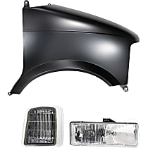 Fender - Front, Passenger Side, with Right Corner Light and Right Headlight