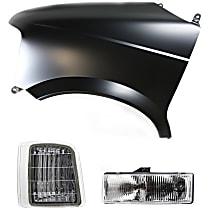 Fender - Front, Driver Side, with Left Corner Light and Left Headlight