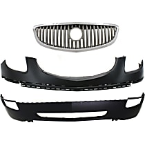 Grille Assembly - Chrome Shell and Insert, with Front Upper and Lower Bumper Covers
