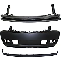 Bumper Cover - Front, Kit, Primed, With Tow Hook Hole, Includes Bumper Reinforcement and Valance
