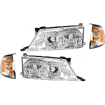 Replacement Headlight and Corner Light Kit - Driver and Passenger Side, DOT/SAE Compliant