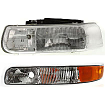 Replacement Parking Light and Headlight Kit - Driver Side, Clear & Amber Lens, Direct Fit, DOT/SAE Compliant