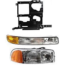 Replacement Parking Light, Headlight and Headlight Housing Kit - Passenger Side, Direct Fit, DOT/SAE Compliant
