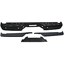 Step Bumper and Bumper Step Pad Kit - Textured Black, Direct Fit