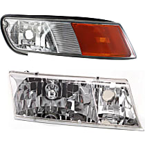 Replacement Headlight and Corner Light Kit - Passenger Side, DOT/SAE Compliant