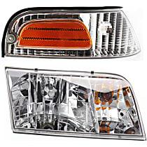 Corner Light and Headlight Kit - Passenger Side, OE Replacement, DOT/SAE Compliant