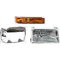 Headlight Door, Turn Signal Light and Headlight Kit - Passenger Side, Direct Fit