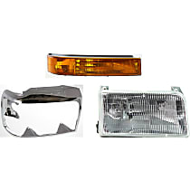 Replacement Turn Signal Light, Headlight and Headlight Door Kit - Passenger Side, DOT/SAE Compliant, Direct Fit