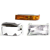 Replacement Turn Signal Light, Headlight and Headlight Door Kit - Driver Side, DOT/SAE Compliant, Direct Fit