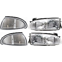 Corner Light and Headlight Kit - Driver and Passenger Side, OE Replacement, DOT/SAE Compliant
