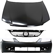 Hood - Primed, with Front Bumper Cover and Grille Assembly