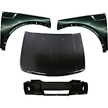 Replacement Bumper Cover, Hood and Fender Kit - KIT1-60615-36-A - With fog light holes
