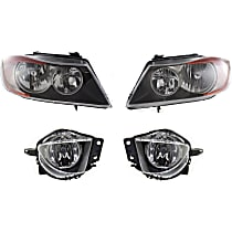 Headlight and Fog Light Kit - Driver and Passenger Side, DOT/SAE Compliant