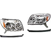 Headlight and Headlight Filler Kit - Driver and Passenger Side, Direct Fit
