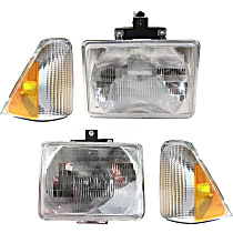 Replacement Corner Light and Headlight Kit - KIT1-61115-33-A - Driver and Passenger Side, OE Replacement, DOT/SAE Compliant