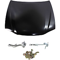 Replacement Hood Latch, Hood and Hood Hinge Kit - Steel, Direct Fit