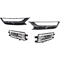 Fog Light - Driver and Passenger Side, with Right and Left Fog Light Moldings