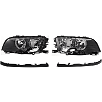 Headlight and Headlight Molding Kit - Driver and Passenger Side, Direct Fit