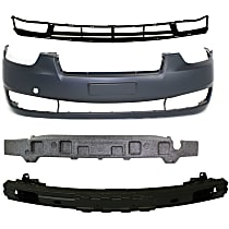 Bumper Reinforcement, Bumper Cover, Bumper Absorber and Grille Assembly Kit - Front, OE Replacement