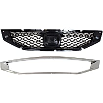 Grille Assembly - Textured Black Shell and Insert, with Grille Trim