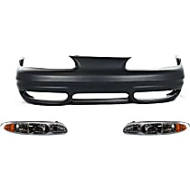 Replacement Bumper Cover and Headlight Kit - With fog light holes
