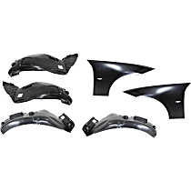 Replacement Fender and Splash Shield Kit - Front, Driver and Passenger Side, Without Molding Holes
