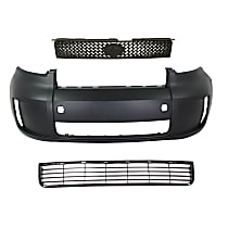 Grille Assembly - Textured Black Shell and Insert, with Front Bumper Cover and Front Bumper Grille