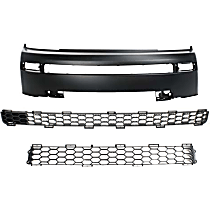 Grille Assembly and Bumper Cover Kit - Textured Black, Front