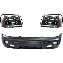 Headlight and Bumper Cover Kit - Front, DOT/SAE Compliant