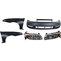 Bumper Cover - Front, Kit, Primed, Includes Fenders and Headlights
