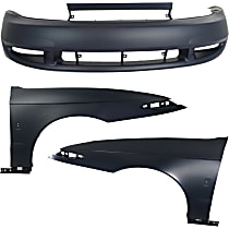 Bumper Cover - Front, Kit, Primed, Includes Fenders