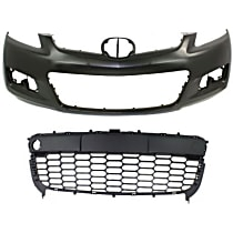 Replacement Bumper Cover and Grille Assembly Kit - KIT1-80615-34-A - With fog light holes