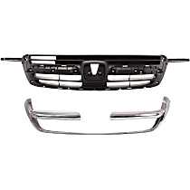 Grille Assembly - Textured Gray Shell and Insert, with Grille Trim