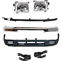 Valance, Bumper, Bumper Bracket, Headlight and Bumper Filler Kit - Front, OE Replacement