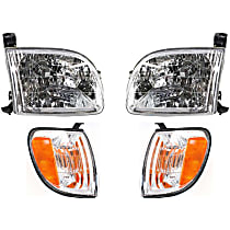 Replacement Turn Signal Light and Headlight Kit - Driver and Passenger Side, DOT/SAE Compliant, Direct Fit