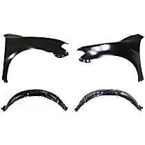 Fender Liner - Front, Driver and Passenger Side, with Right and Left Fenders