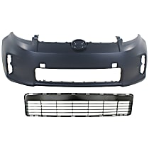 Grille Assembly and Bumper Cover Kit - Black, Front