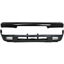 Bumper - Front, Powdercoated Black, with Lower Valance