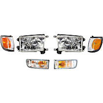 Headlight, Turn Signal Light and Corner Light Kit - Driver and Passenger Side, DOT/SAE Compliant
