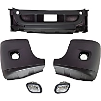 Front Bumper Cover, Gray