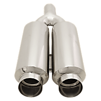 Polished Muffler - Universal