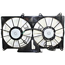 OE Replacement Radiator Fan - Dual, w/ Coolant Reservoir