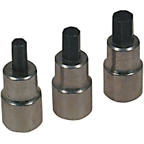 Drive Socket - 1/4 in., 8 mm, and 3/8 in., Universal, Set of 3